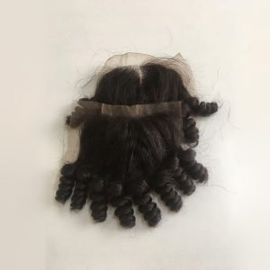 10 inches kinky curly lace closure in #1b
