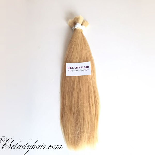 20 inches straight bulk blonde hair