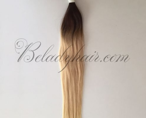 24 inches Ombre mixed #6 and #60 straight bulk hair