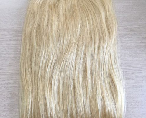 Clip in blonde hair extensions double drawn - 60cm