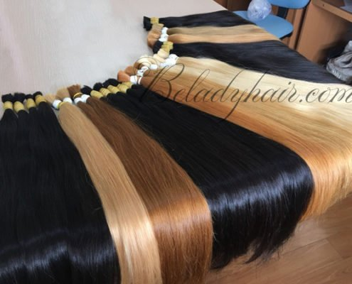 Many color hot shade straight bulk 70 cm