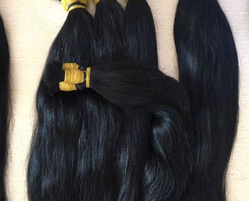 Single bulk straight hair