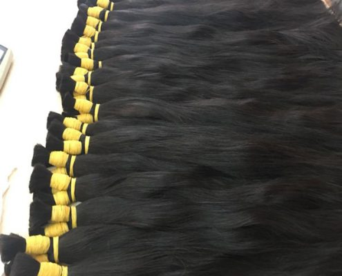 Straight bulk natural hair