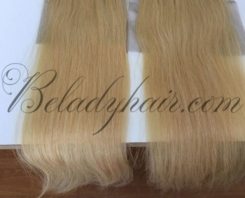 Blonde color 613 straight closure 5 x 5