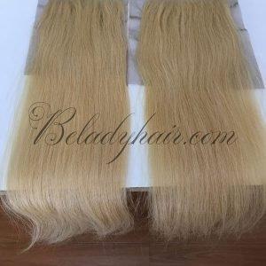 Blonde color 613 straight closure 5 x 5