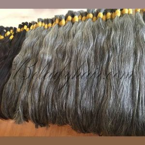Gray straight bulk hair 24 inches