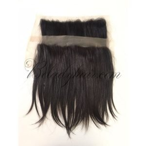 Lace frontal 12 inches black hair