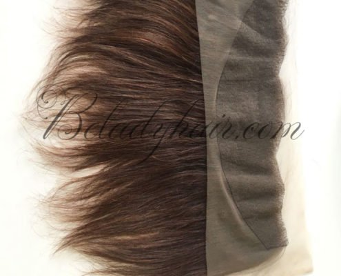 Lace frontal 12 inches brown hair