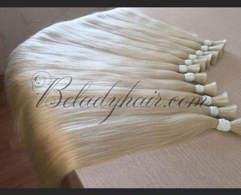 Straight bulk hair 24 inches in #60 cold shade