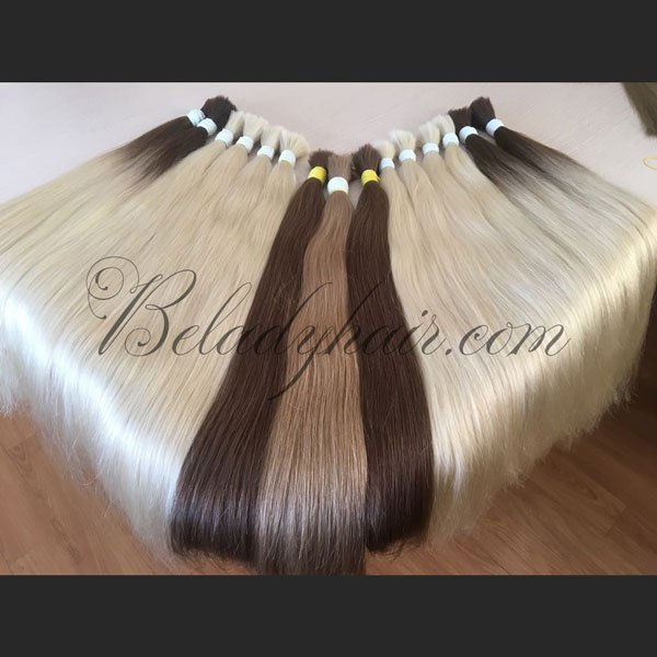 Straight bulk hair 24 inches in color cold shade
