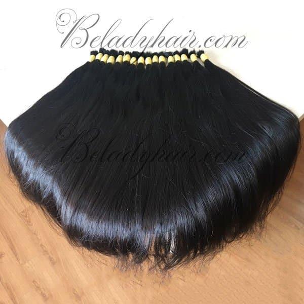 Straight bulk long hair 80 cm
