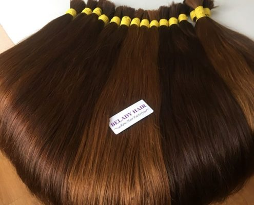 Many color straight bulk hair