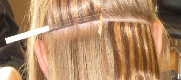 white girl hair extension