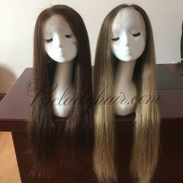 Wigs density color #2-22 inches