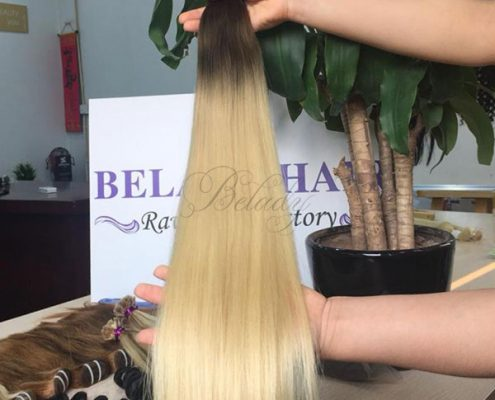 Many Color Flat Tips Hair