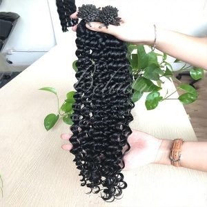 I Tip Deep Curly Hair Natural Color 1B