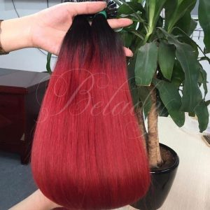 Flat Tip Straight Ombre Hair 1B/99J