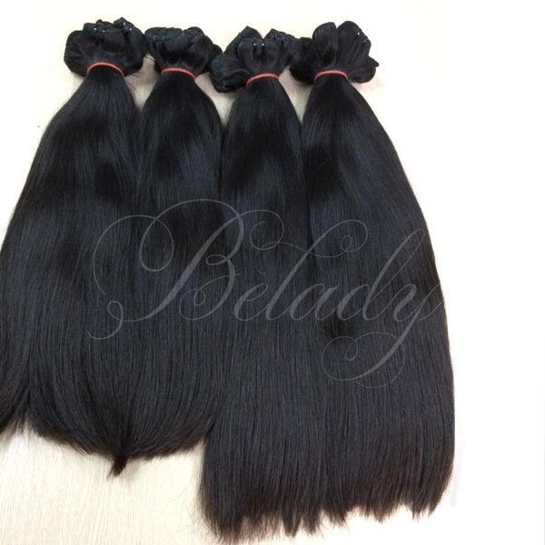 Weft Straight Hair Natural Color #1B