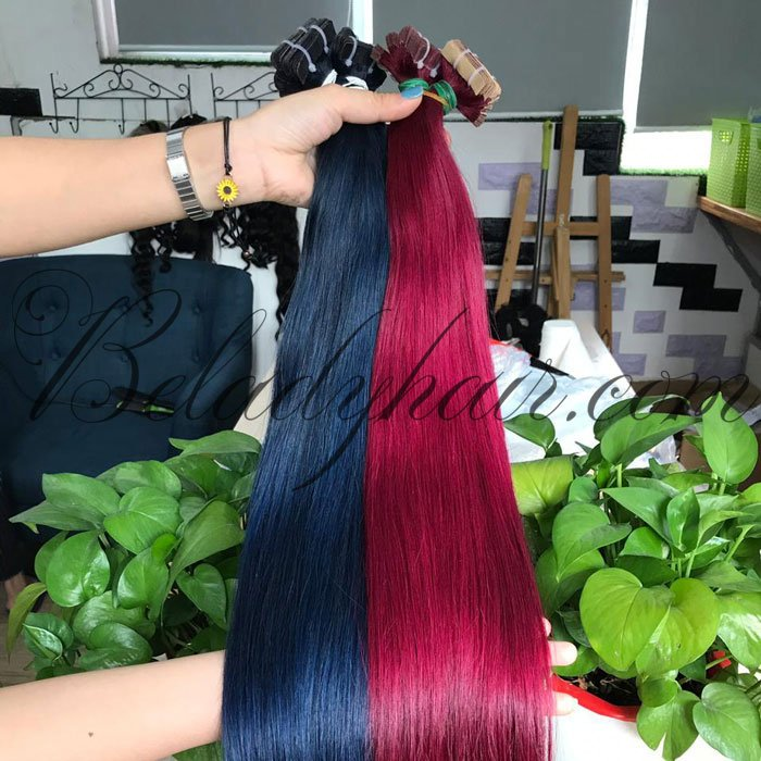 22 inches straight tape - color blue, color red